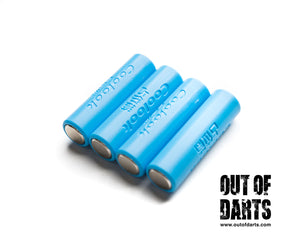 Nerf mod Dummy Battery 14500/AA sized 4-pack with case - Out of Darts