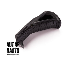 Nerf mod Angled Fore Grip (BLACK) Magpul Style - Out of Darts