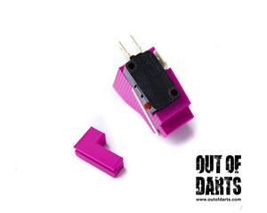 Nerf mod Nemesis Switch Mounting Plate 3d Printed (Ideal Trigger Switch Placement) - Out of Darts