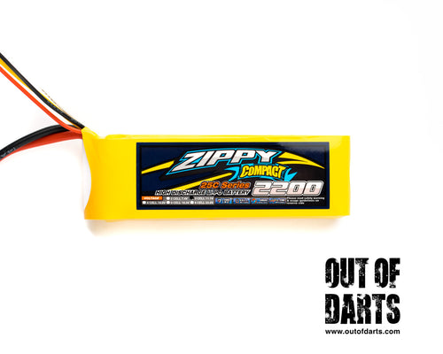 Nerf mod Zippy 2s 2200mAh 25c LiPO pack (XT-60 connector) - Out of Darts