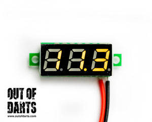"Voltage meter Small .28"" 4 colors!"