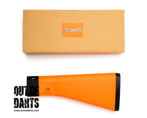 Nerf mod Worker Nerf Compatible M16 Style Fixed Buttstock (ORANGE) - Out of Darts