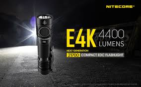 Nitecore E4K Lumen Flashlight (With NL2150HPR USB Battery)