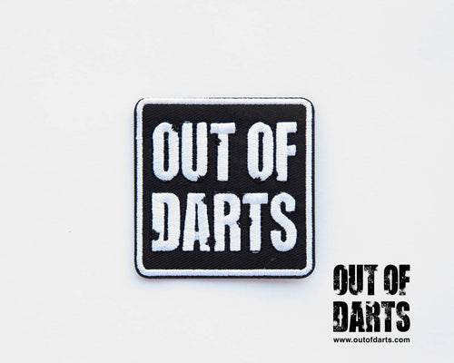 Out of Darts 2017 hook & Loop logo patch