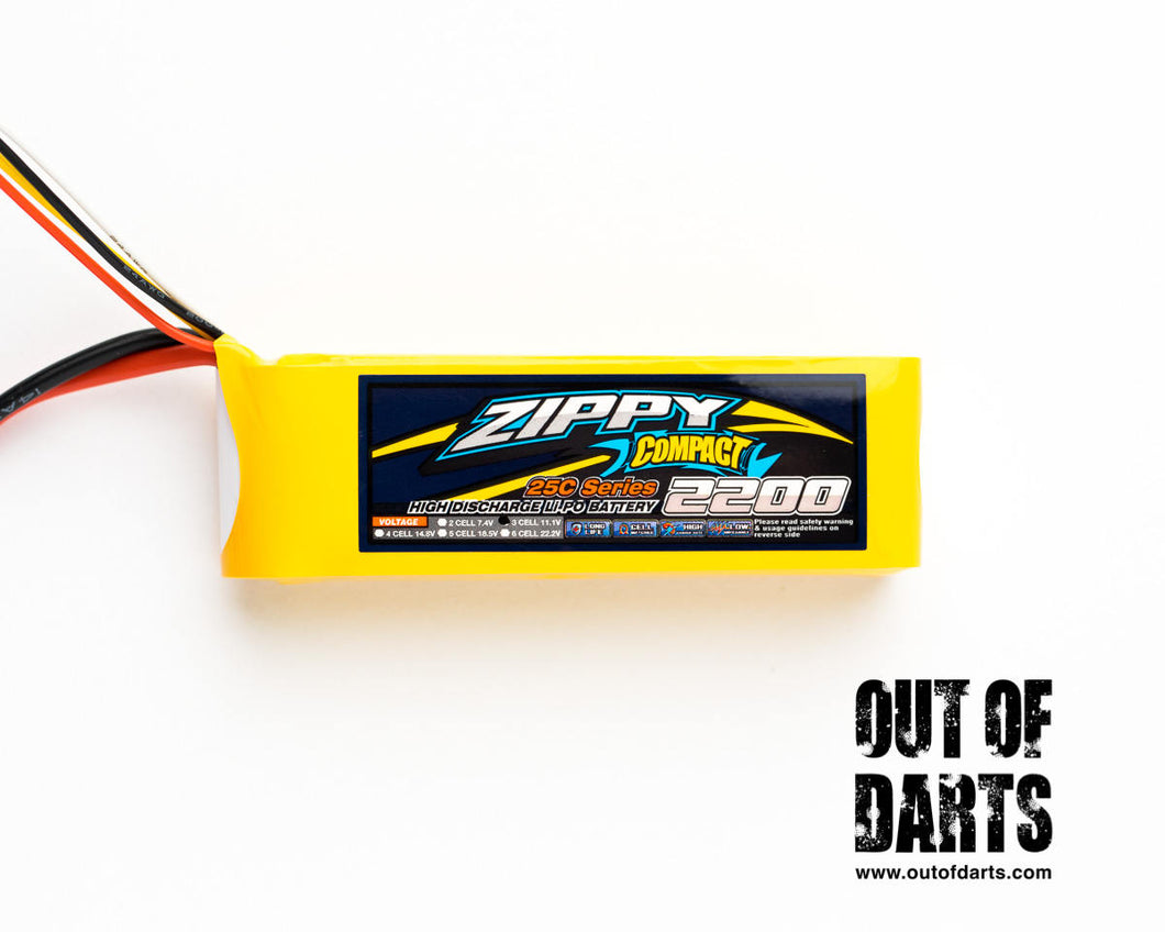Zippy compact 3s 2200mAh 25c LiPO pack (XT-60 connector)