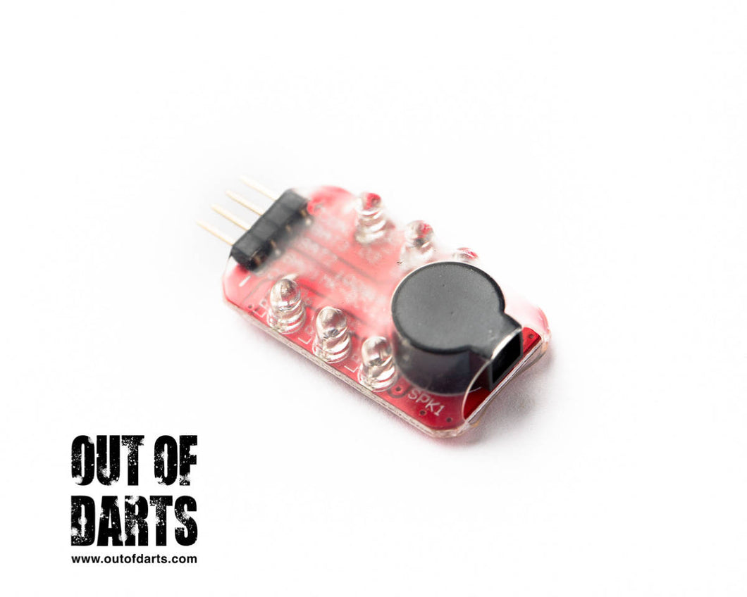 LiPO Voltage alarm #1 MINI-size buzzer only- for safe operation (Balance port connector)