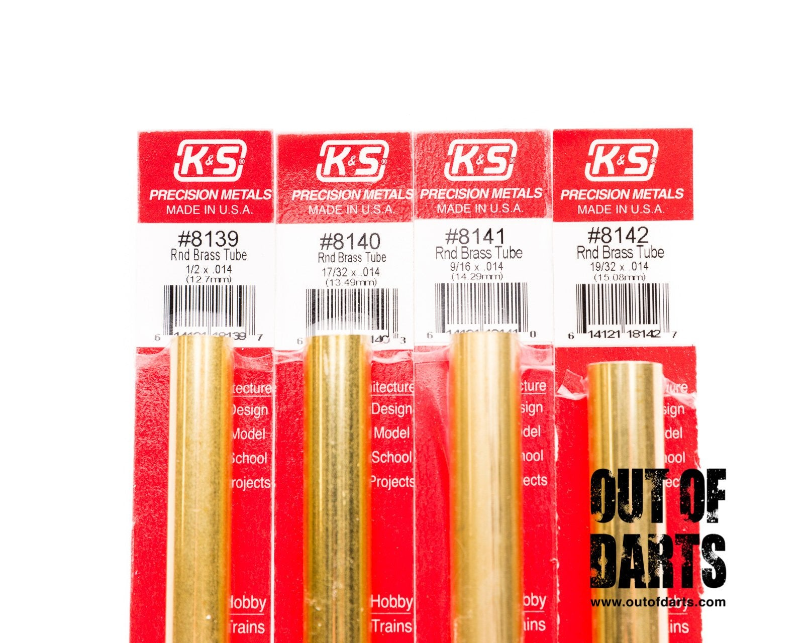 Brass Tubing 4 Sizes KS Metals Out Of Darts