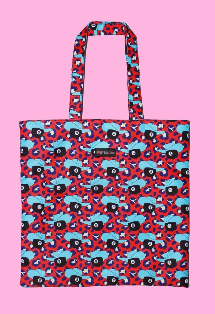 8 Ball Cowboy Tote Bag