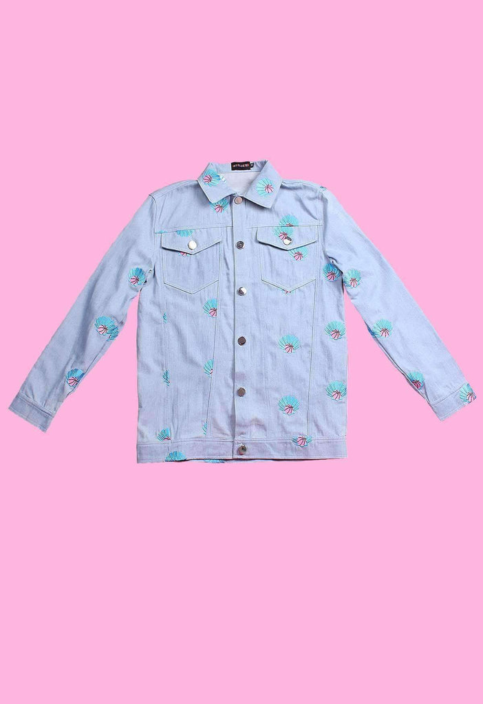 Clam Dunk Embroidered Denim Jacket