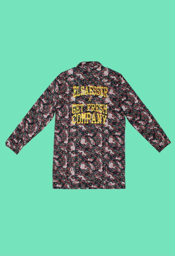 Elsaesser x GFC - Green Cherry Camo Denim Jacket