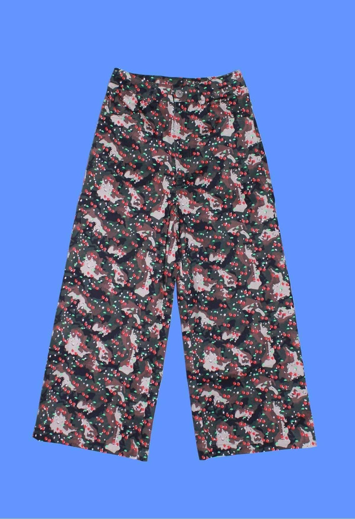 Elsaesser x GFC - Green Cherry Camo Wide Leg Pants