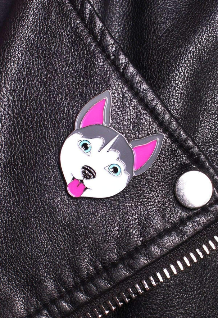 Happy Husky Pin