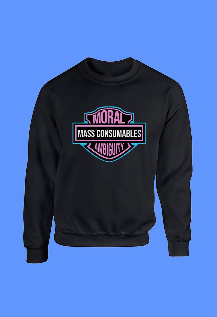 Moral Ambiguity and Mass Consumption Crewneck