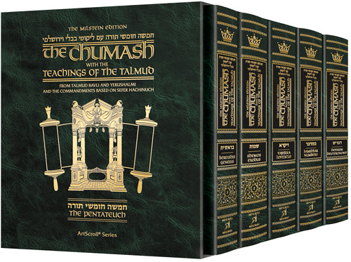 The Milstein Edition Chumash with the Teachings of the Talmud - Slipcased Set