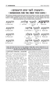 Schottenstein Interlinear Hoshanos  - Pocket Size (Softcover)