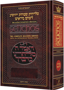 Schottenstein Edition Interlinear Selichos: Pocket Size Nusach Lita Ashkenaz [Paperback]