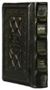Interlinear Tehillim /Psalms Full Size Dark Brown Leather The Schottenstein Ed