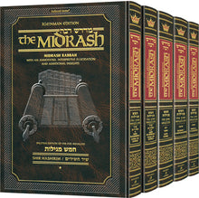 Load image into Gallery viewer, Midrash Rabbah Megillos Kleinman Edition-5 Volume set-Full Size