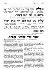 Schottenstein  Machzor Interlinear Yom Kippur -Hebrew English - Sefard- Pocket Size (softcover)