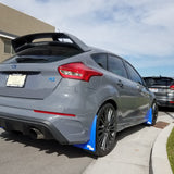 Focus RS Featuring Rokblokz Mud Flaps: Deep Blue Flaps in Original Length
