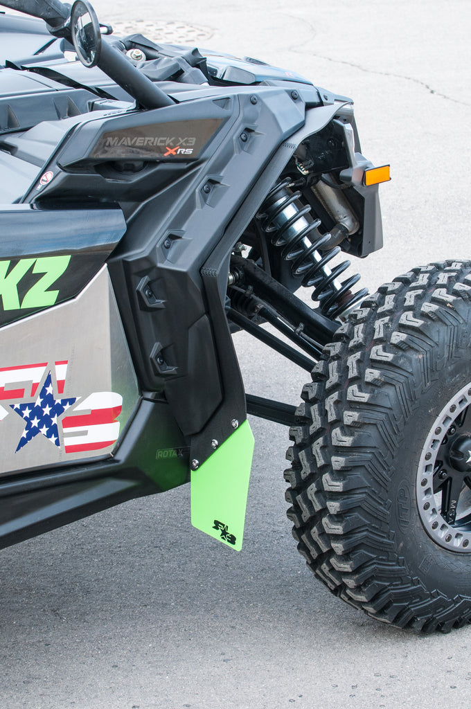 Not X3 Model Maverick Max RokBlokz Mud Guards for Can Am Maverick Set of 4 Fender Flares Come with All Mounting Hardware and Detailed Instructions Best Mud Flaps Black