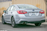 15-19 Subaru Legacy featuring Rokblokz Splash Guards in Black