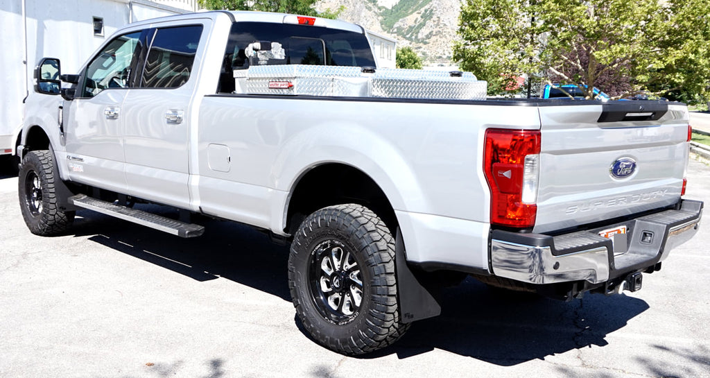 ford f 250 f 350 super duty 2017 srw mud flaps rokblokz. Black Bedroom Furniture Sets. Home Design Ideas