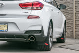 2019 Elantra Featuring ORIGINAL length Rokblokz Mud flaps in Black
