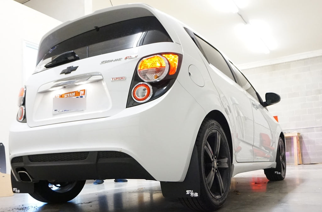 Chevy Sonic Rs 2013 2019 Rally Mud Flaps Rokblokz