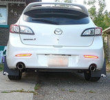 MAZDA SPEED3 MAZDA3 Sedan or Hatchback 2010-2013 Rally Mud Flaps