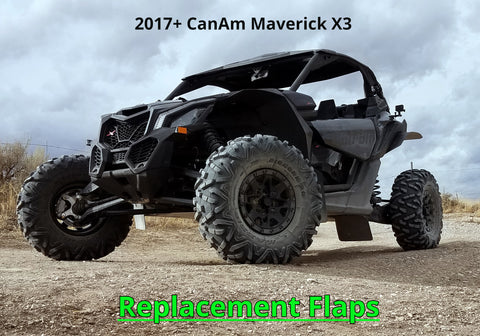 Maverick X3 Replacement Flaps - TRAILING ARM or FRONT LOWER