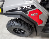 Polaris RZR 570 TRAIL 2014-2017 Mud Flaps / Fender Extensions, Front & Rear