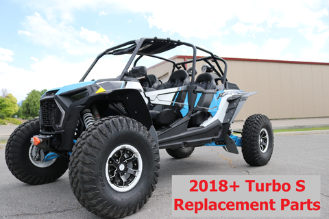 "Polaris RZR Turbo S ""The Beast"" 2018+ Trailing Arm Guards or ACCENT - REPLACEMENT FLAPS"