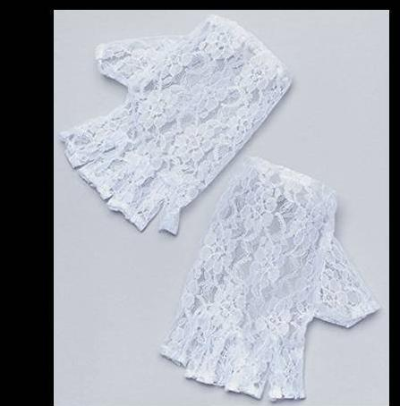 Gloves White Lace - Fingerless