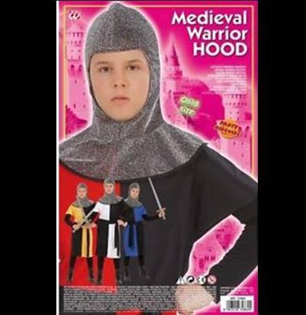 Medieval Warrior Hood Childs