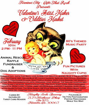 SATURDAY 2/10/18 Valentine's Artist Market @ Naughty Soda