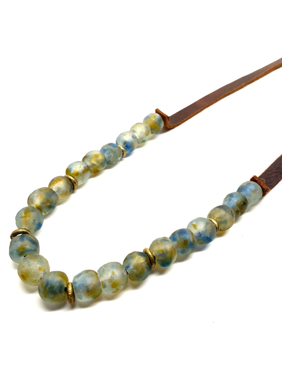 Krobo 1 Strand • Water with Brass