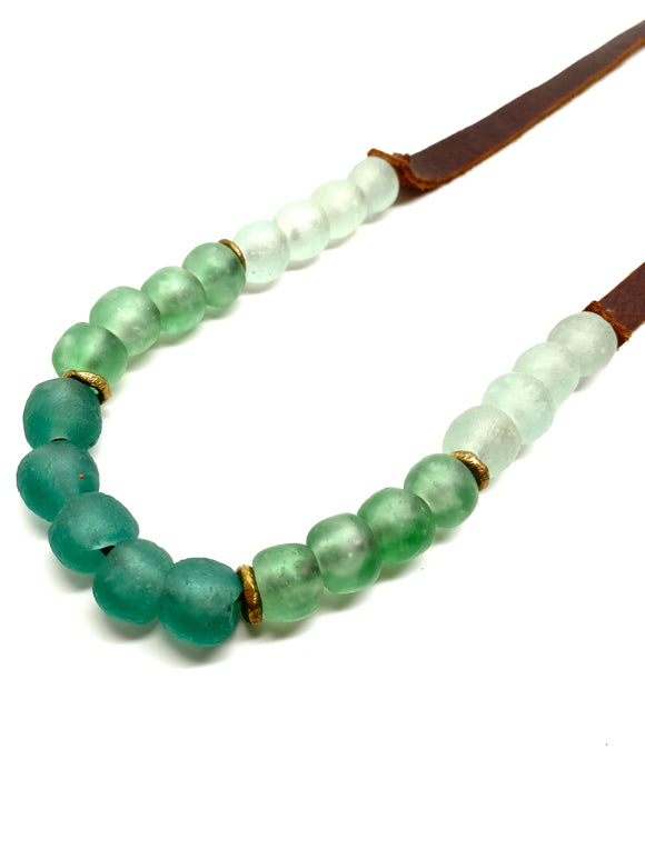 Copy of Krobo 1 Strand • Colorblock Seafoam