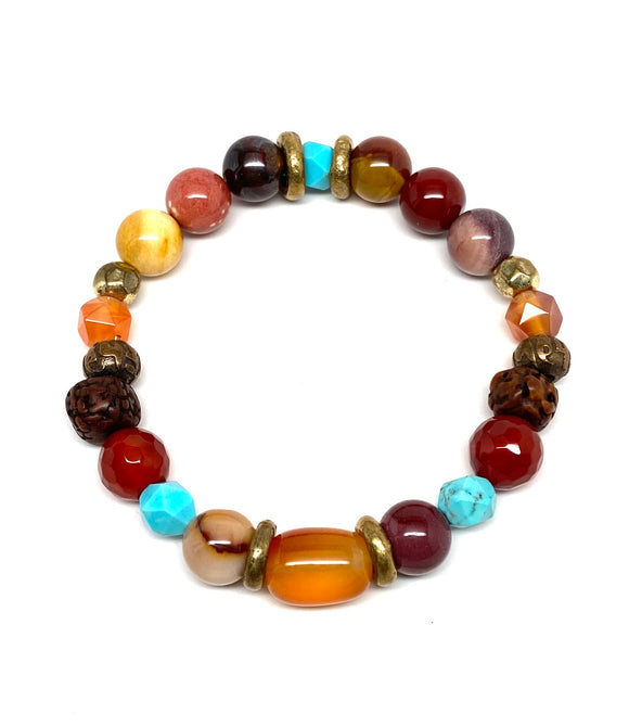 Mixed Gemstone Fire Bracelet