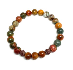 Picasso Jasper & Wooden Prayer beads