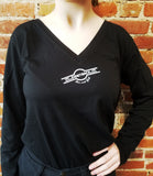 Ladies V-Neck Logo/Quote Longsleeve