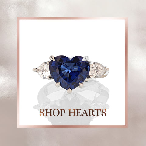 Shop Heart Shaped Fine Jewelry, Diamonds, Gemstones Valentine's Day Gifts