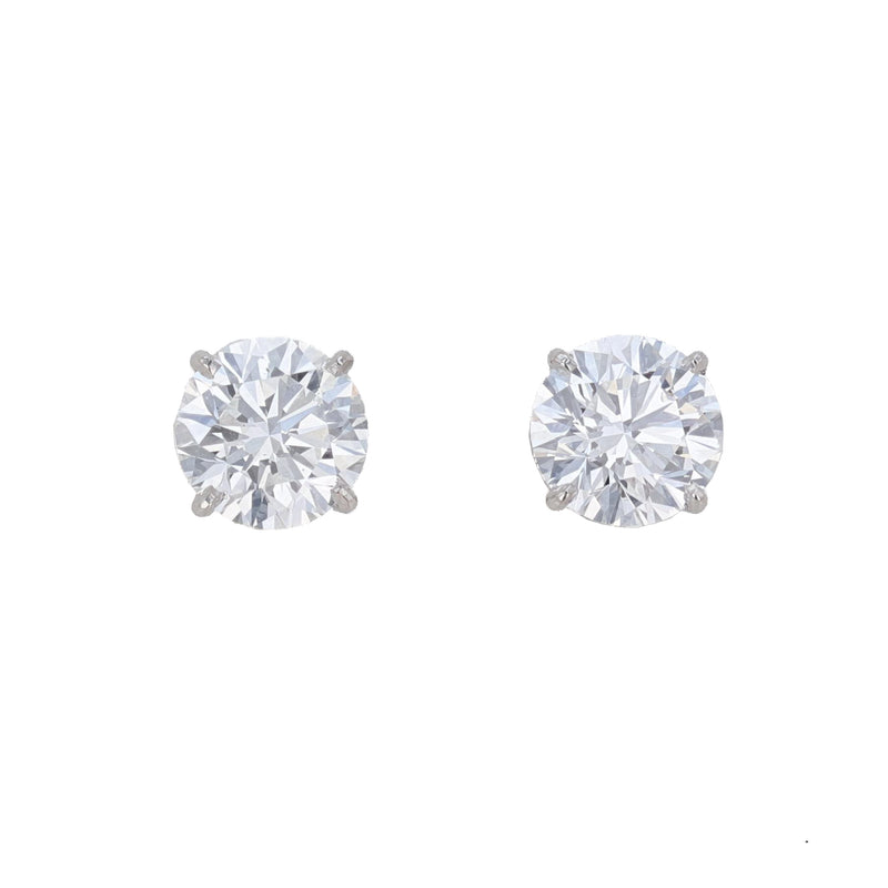 14K White Gold Diamond Stud Earrings, Earrings, Nazar's & Co. - Nazar's & Co.