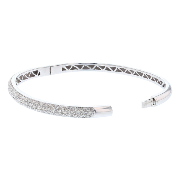 18K White Gold Diamond Bangle, Bangle, Nazar's & Co. - Nazar's & Co.