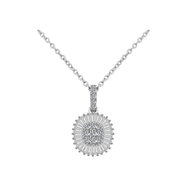 18K White Gold Diamond Necklace - Nazar's & Co.