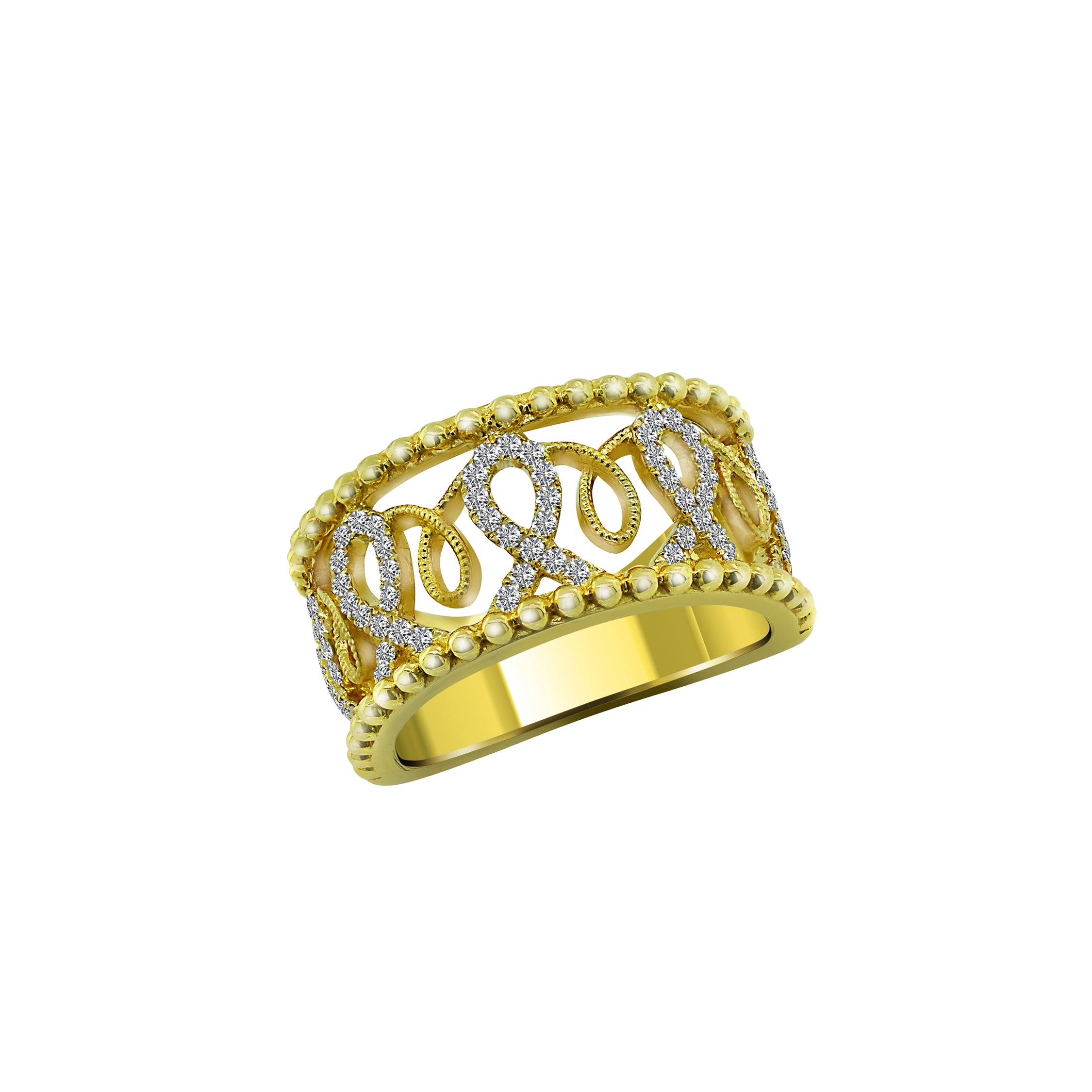 14K Yellow Gold with Diamond Ring, Rings, Nazar's & Co. - Nazar's & Co.