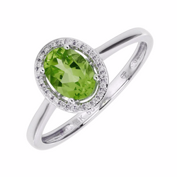 Nazar's Collection Peridot and Diamond Ring, Rings, Nazar's & Co. - Nazar's & Co.