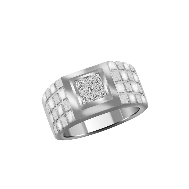 Men's 18K White Gold Diamond Band, Rings, Nazar's & Co. - Nazar's & Co.