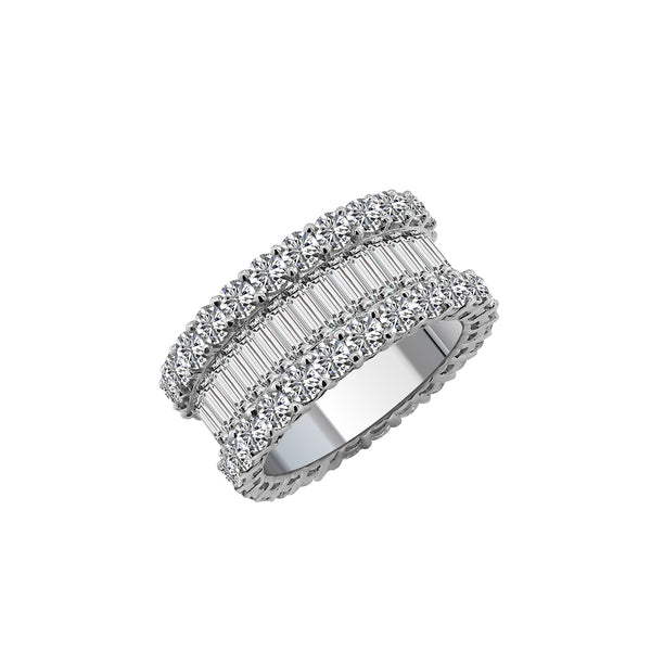 18K White Gold and Diamond Eternity Band - Nazar's & Co.