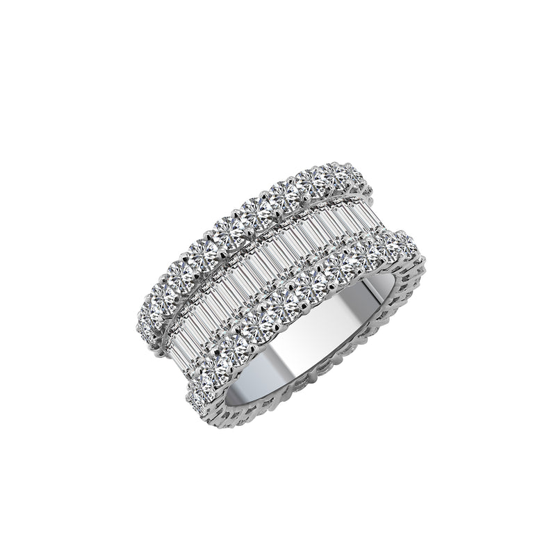 18K White Gold and Diamond Eternity Band, Rings, Nazar's & Co. - Nazar's & Co.